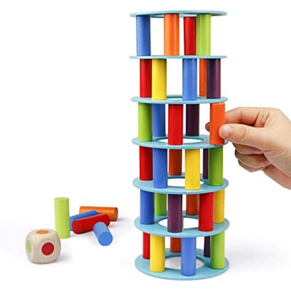 Wooden Tower Stacking # 2407-5